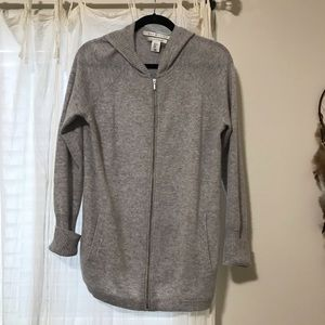 a4c3bee599c72 Max Studio · Max Studio 100% cashmere Cardigan Hoodie Sweater